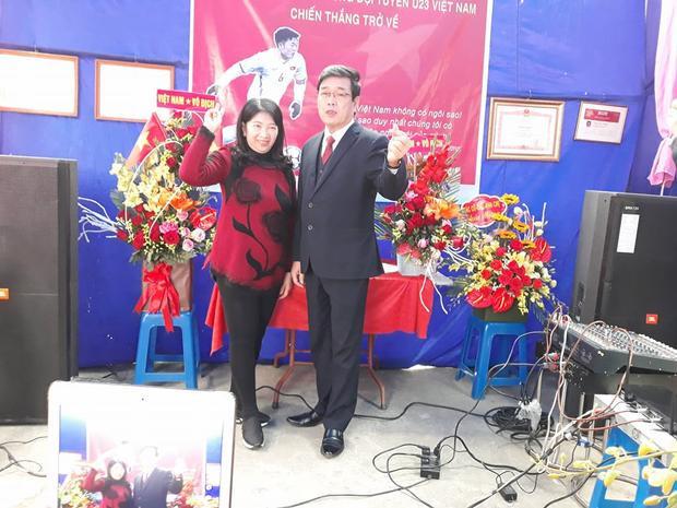 Bố mẹ đội trưởng Lương Xuân Trường.