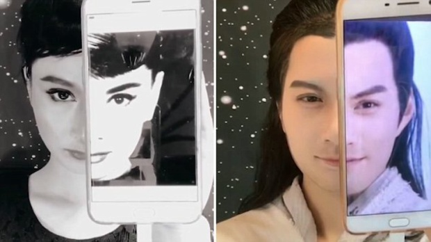 Yan mất 2-4 tiếng để trang diểm nửa gương mặt sao cho giống người nổi tiếng.