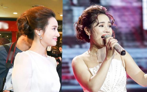 Nhã Thanh và Nhã Phương có nét giống nhau ở góc nghiêng này và mái tóc búi cao.