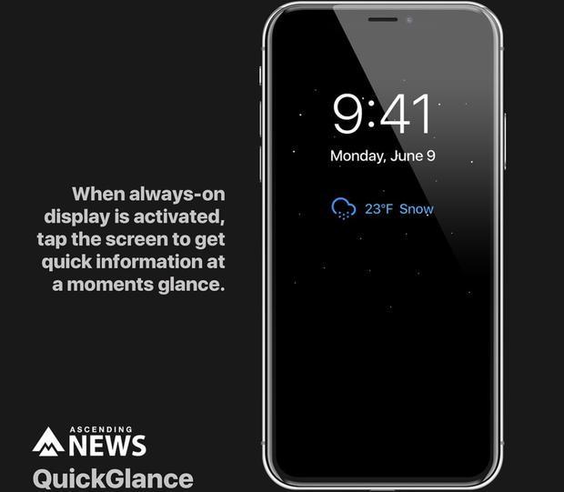 """Tính năng màn hình luôn bật """"Always-on"""" sẽ giúp người dùng không bị nhỡ các thông tin về thời gian, email, cuộc gọi, tin nhắn hay các thông báo từ ứng dụng."""
