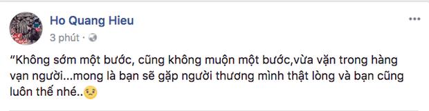 Chia sẻ mới nhất của Hồ Quang Hiếu được cho là nhắc đến bạn gái cũ Bảo Anh.