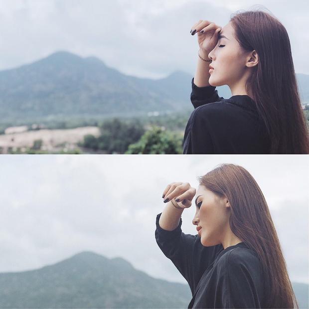 Diện áo đen và màu sơn móng tay đen, Kỳ Duyên cho thấy vẻ ngoài cá tính mà cô đang hướng tới.