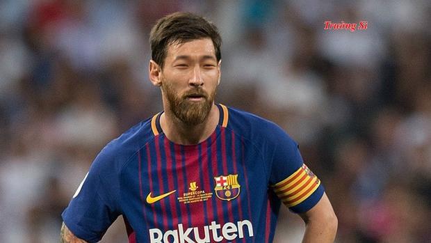 """Khi Messi không thấy """"mặt trời"""" ở đâu. Ảnh: Giang Trường"""