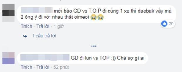 Cộng đồng V.I.P bất ngờ trước thông tin trưởng nhóm G-Dragon đi cùng T.O.P giữa quãng thời gian khó khăn.