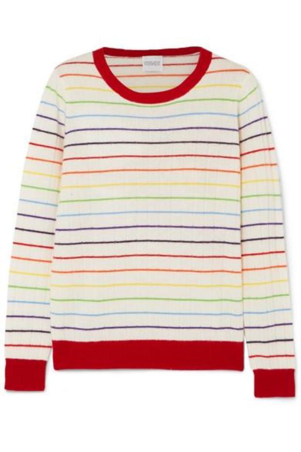 Nếu bạn là fan của họa tiết cầu vòng nhưng không thể nào chi hàng chục triệu cho những thương hiệu xa xỉ thì chiếc sweater từ NET-A-PORTER sẽ là sự lựa chọn thích hợp đấy.