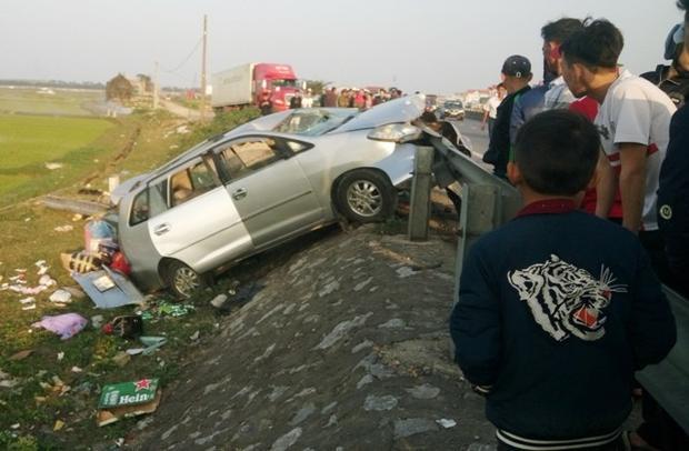 Hiện trường vụ tai nạn. Ảnh: Vietnamnet