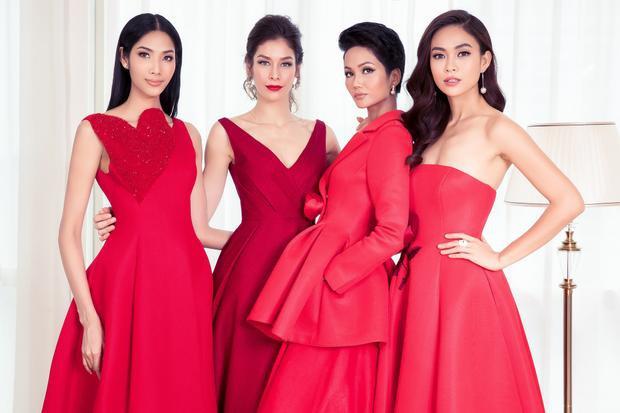 Sau gần một tháng kết thúc cuộc thi, BTC Hoa hậu Hoàn vũ Việt Nam cũng tung ra bộ ảnh gắn kết các thế hệ người đẹp của Hoa hậu Hoàn vũ, trong đó, có H'Hen Niê, Hoàng Thuỳ, Mâu Thuỷ và Miss Universe 2008 Dayana Mendoza.