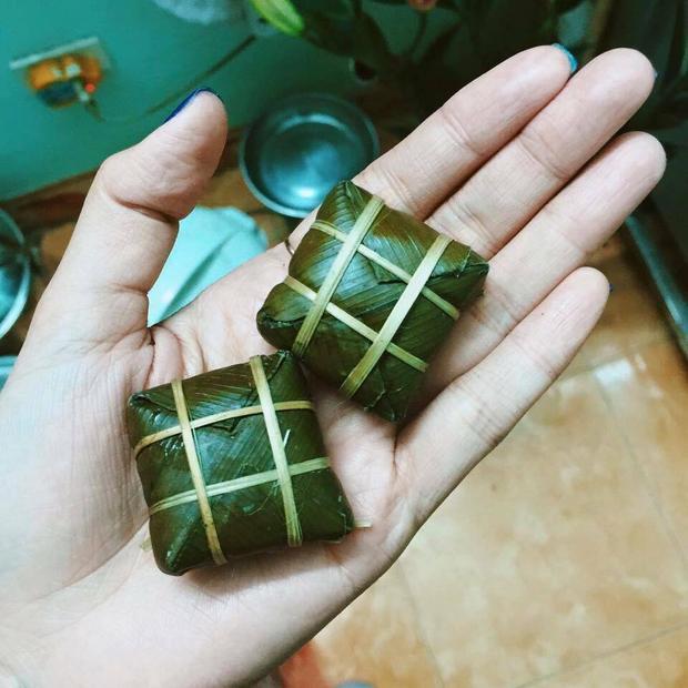 Đây là bánh chưng tí hon của Trần Hải Long.