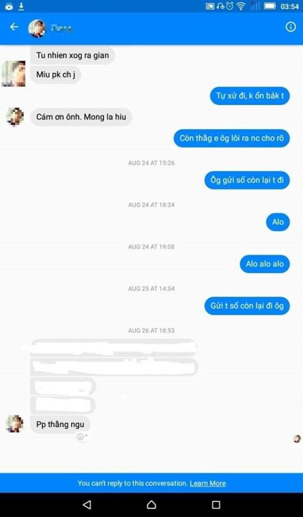 Bạn Đinh Thái Bình còn bị người vay nợ chửi.