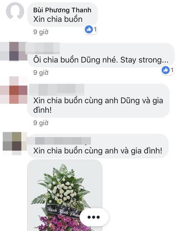 Ca sĩ Phương Thanh tiếc thương khi bố Quang Dũng qua đời.