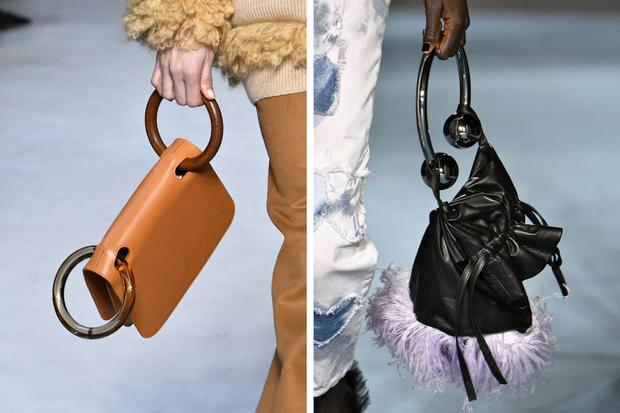 Túi xách có tay cầm kim loại vừa độc đáo vừa thể hiện sự sang chảnh cho các tín đồ thời trang.