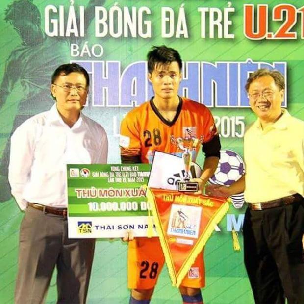 Đặng Ngọc Tuấn từng giành danh hiệu Thủ môn xuất sắc nhất VCK U21 quốc gia năm 2015.