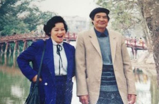 NSND Tuệ Minh và nhà văn Nguyễn Đình Thi.