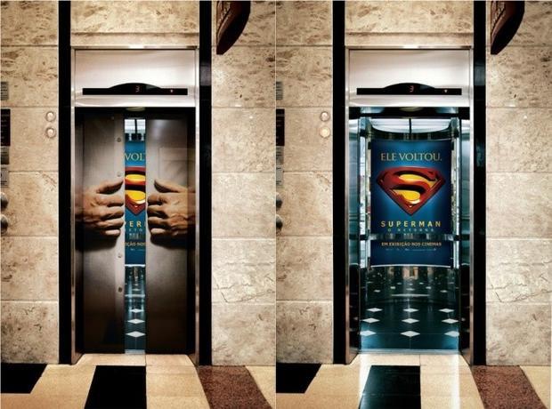 Quảng cáo này được thực hiện trước khi bộ phim Siêu nhân trở lại được phát hành vào năm 2006 tại một rạp chiếu phim ở Brazil.