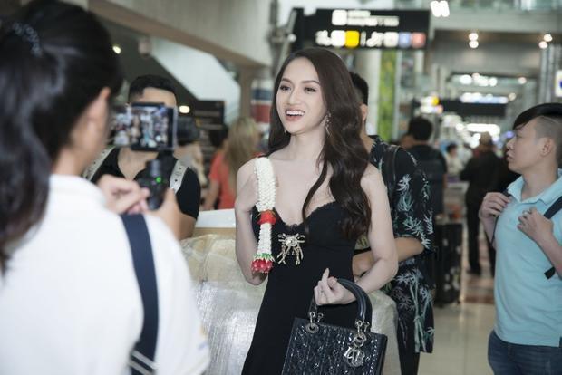 Hương Giang Idol rạng rỡ trong buổi họp báo cuộc thi Hoa hậu Chuyển giới Quốc tế 2018.