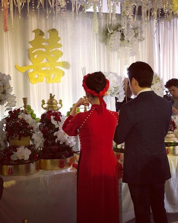 Những hình ảnh hiếm hoi trong lễ ăn hỏi của Mai Hồ và người yêu Việt kiều