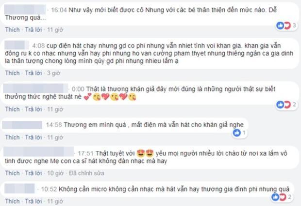 Các fan dành nhiều lời động viên và khen ngợi cho mẹ con Phi Nhung.