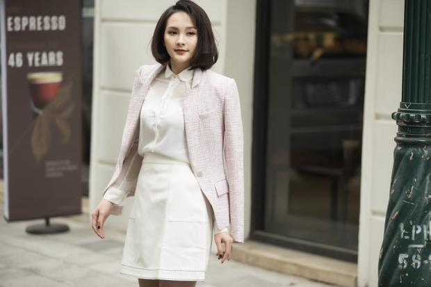 Đầu xuân, Diễn viên Bảo Thanh xuất hiện với hình ảnh mới thanh lịch và tươi trẻ trong bộ hình thời trang.