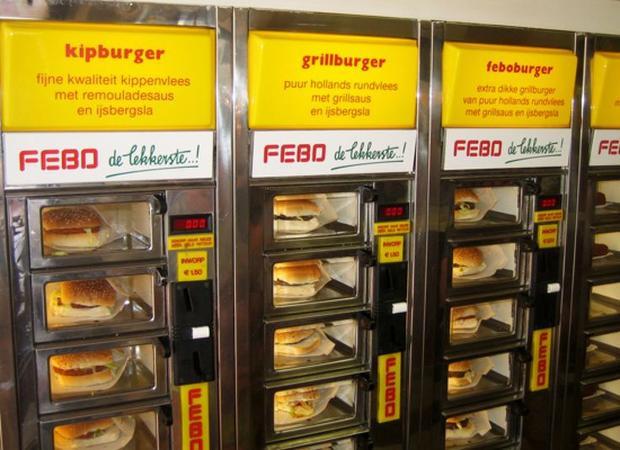 Máy bán sandwich ở Singapore