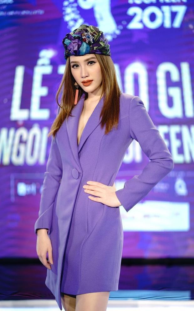 Thêm một bộ suits tím lịm được Bảo Thy tin dùng và giúp cô nổi bần bật tại sự kiện.