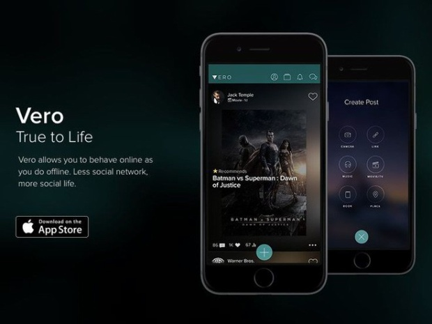 Vero: Ứng dụng mạng xã hội đang hot rần rần trên App Store là gì?