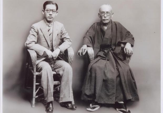 Yoshiko cùng người cha nuôi người Nhật Bản. Ảnh: Baidu