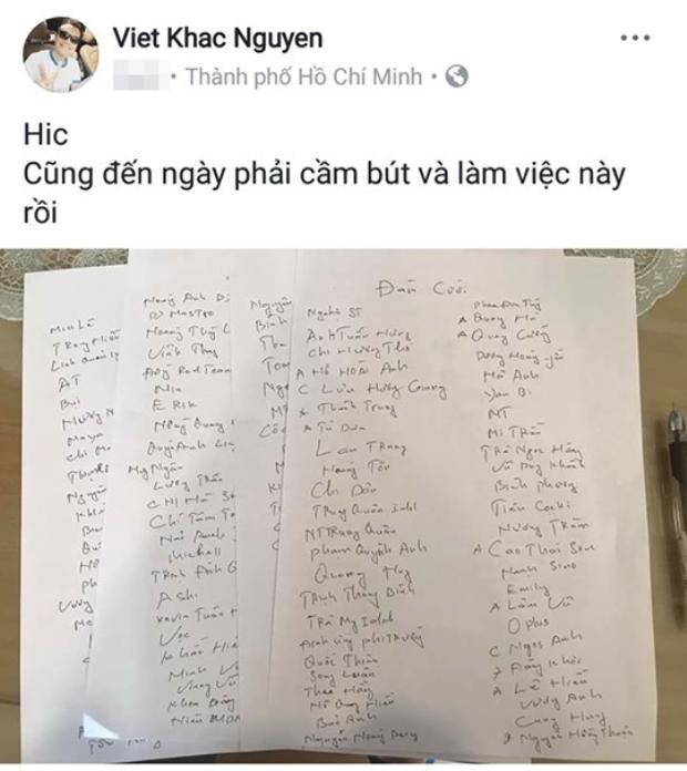 Danh sách khách mời toàn sao khủng của Khắc Việt.