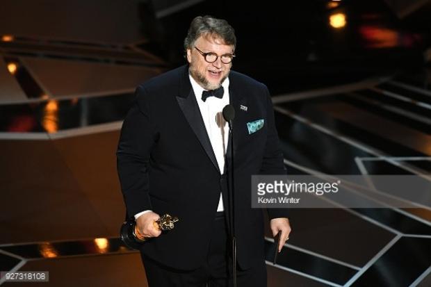 Guillermo del Toro phát biểu khi nhận giải.