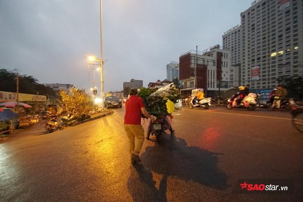 Những chiếc xe chở hoa ra về lúc rạng sáng.