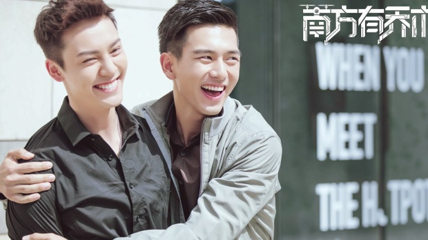 Nam diễn viên trẻ Lý Hiện (phải) ngày càng khẳng định được khả năng diễn xuất.
