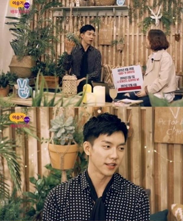 Lee Seung Gi chia sẻ chia những kỷ niệm đáng nhớ.