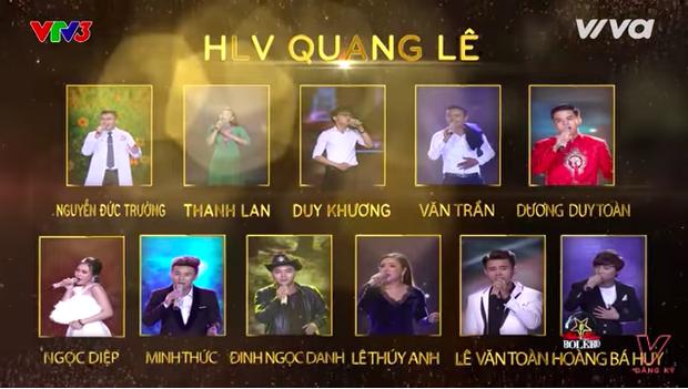 Đội hình team Quang Lê.