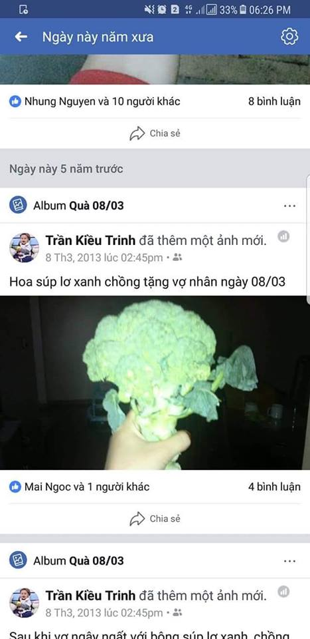 Hoa súp lơ xanh chồng chị Kiều Trinh tặng chị nhân dịp 8/3/2013.