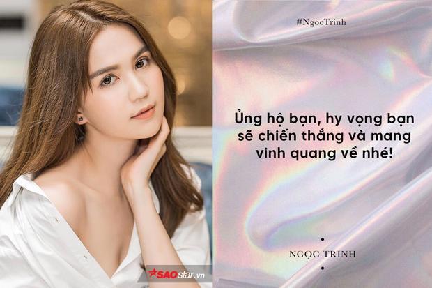 Ngọc Trinh hy vọng Hương Giang Idol sẽ mang chiến thắng về cho nước nhà.