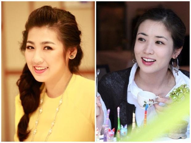 """Á hậu Việt Nam 2012 Dương Tú Anh được nhiều khen ngợi có vẻ đẹp trong sáng, thánh thiện giống """"nàng công chúa thứ 3"""" Choi Jung Won của bộ phim truyền hình Hàn Quốc dài tập đình đám một thời Những nàng công chúa nổi tiếng."""