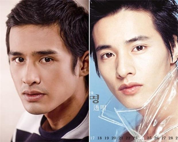Lương Thế Thành và Won Bin có khá nhiều điểm tương đồng, từ cấu trúc xương hàm đến ánh mắt, đôi môi.
