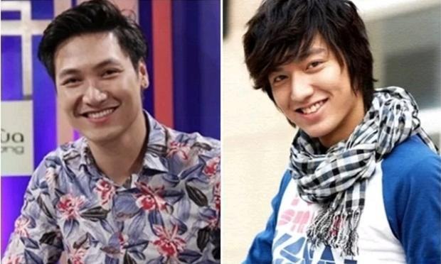 Ở góc nghiêng 3/4, dễ thấy Lee Min Ho, Mạnh Trường có nụ cười nửa miệng khá giống nhau.