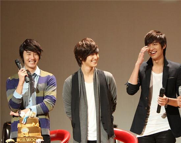 Bộ 3 thân thiết: Jung Ill Woo - Kim Bum - Lee Min Ho