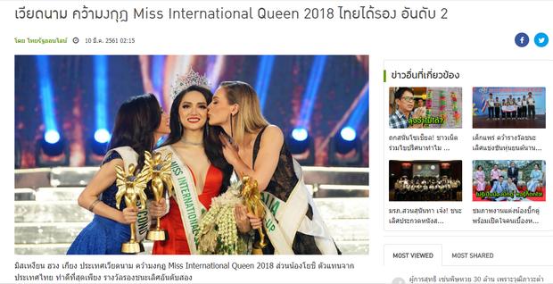 TrangThairath đưa tin về chiến thắng của đại diện Việt Nam.