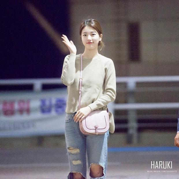 Phong cách giản dị quen thuộc của Suzy vẫn luôn là điều mà fan thích thú