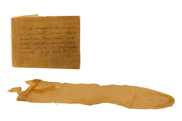 Chiếc bao cao su được nhận định là lâu đời nhất trên thế giới.