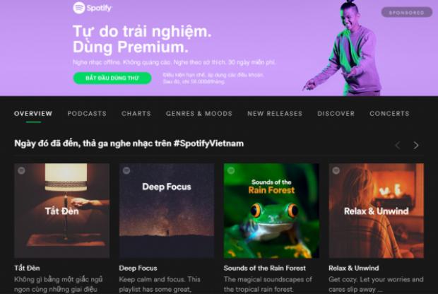 Sau nhiều chờ đợi, cuối cùng ngày người dùng Việt Nam có thể nghe nhạc trên Spotify mà chẳng cần thủ thuật gì cũng tới.