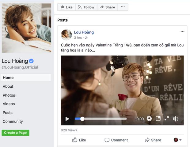 """Lou Hoàng đã nhá hàng đoạn clip ngắn dành cho """"Valentine Trắng"""" ngay trước Valentine Trắng 1 ngày."""