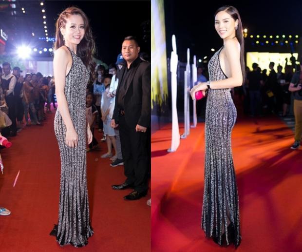 Học trò Phạm Hương và Hoa hậu Kỳ Duyên có sự chênh lệch khá lớn trong thiết kế này. Nhiều khán giả nhận xét, An Nguy không phù hợp với những mẫu đầm phom dáng ôm sát cơ thể như thế.