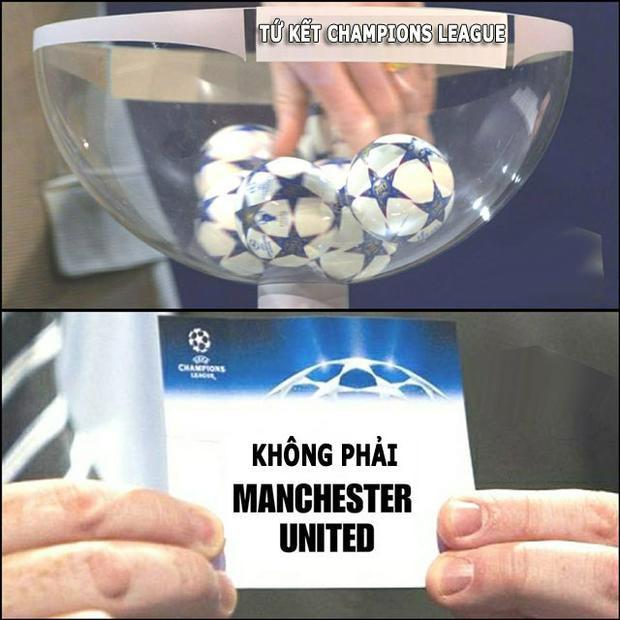 """Man United không """"có cửa"""" vào tứ kết Champions League."""