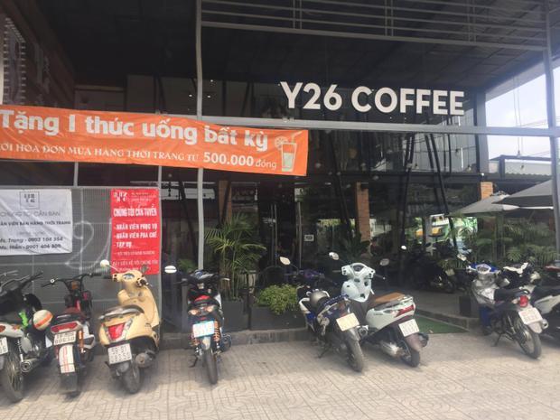 Quán cà phê xảy ra vụ việc.