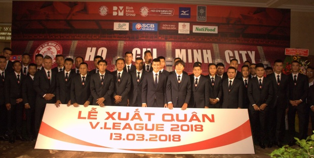 CLB TP.HCM đã sẵn sàng cho cuộc chơi ở giải đấu cao nhất V.League. Một bộ mặt hoàn toàn mới và hứa hẹn gặt thành tích cao. Ảnh: CLB TP.HCM