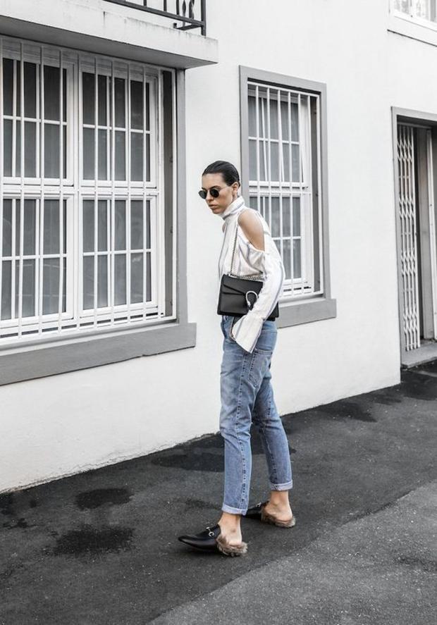 Chán cao gót, sao Việt rủ nhau diện giày hở gót hơn chục triệu của Gucci