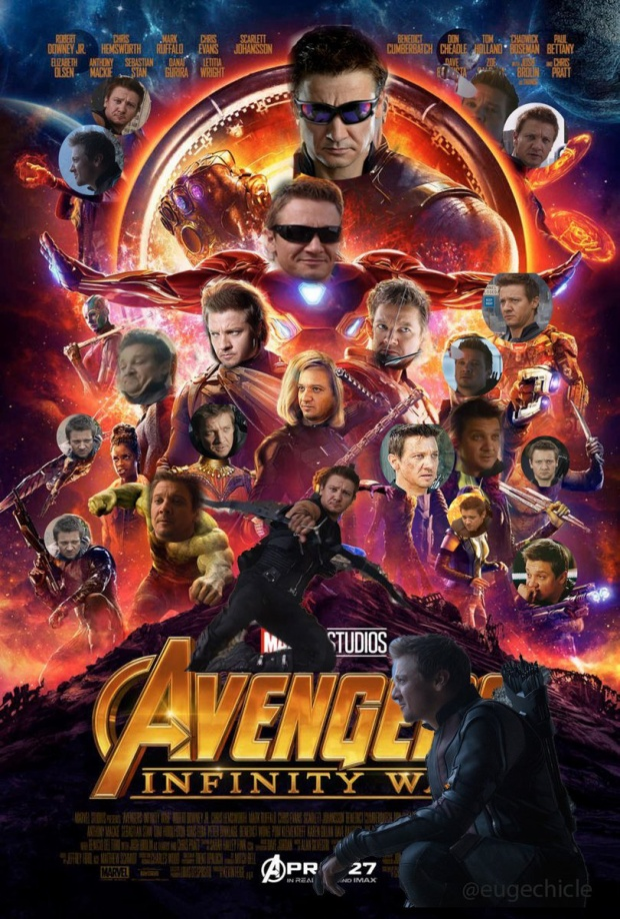 """Lại thêm 1 phiên bản poster """"All-Hawkeye"""" nhé. Nguồn: euge."""