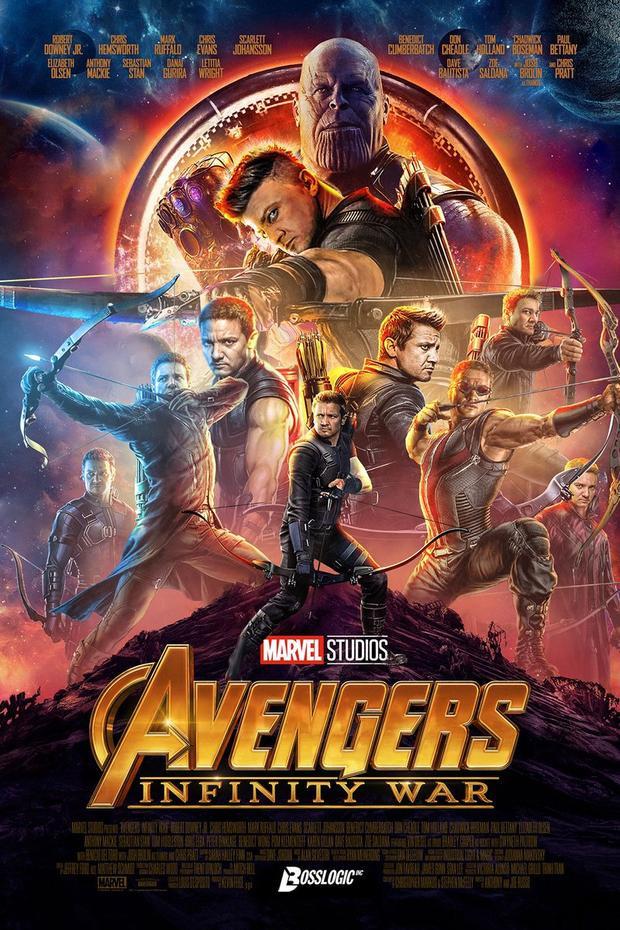 Thanos và cung thủ Hawkeye. Nguồn: BossLogic.